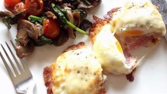 Baked Eggs with Mozzarella